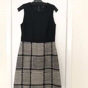 Theory black and white plaid dress size 10